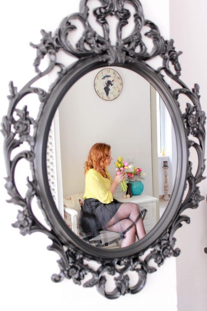 огледало, жена