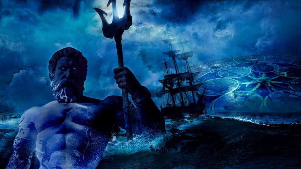 жезъл, посейдон, нептун, буря
