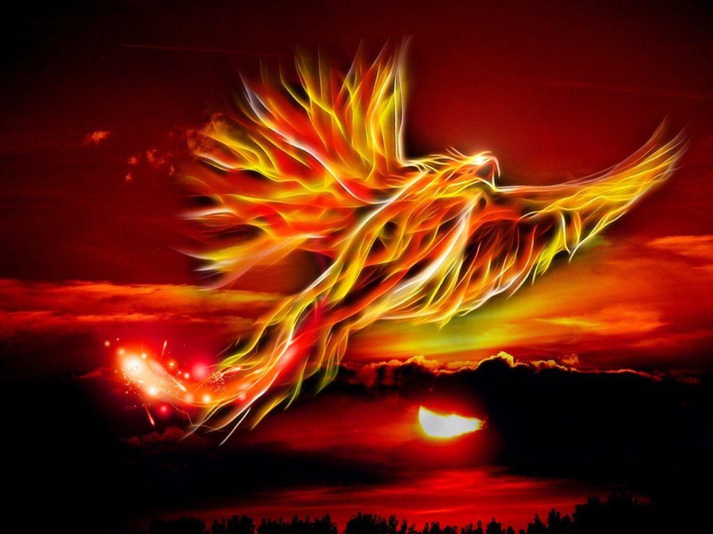 феникс, огън