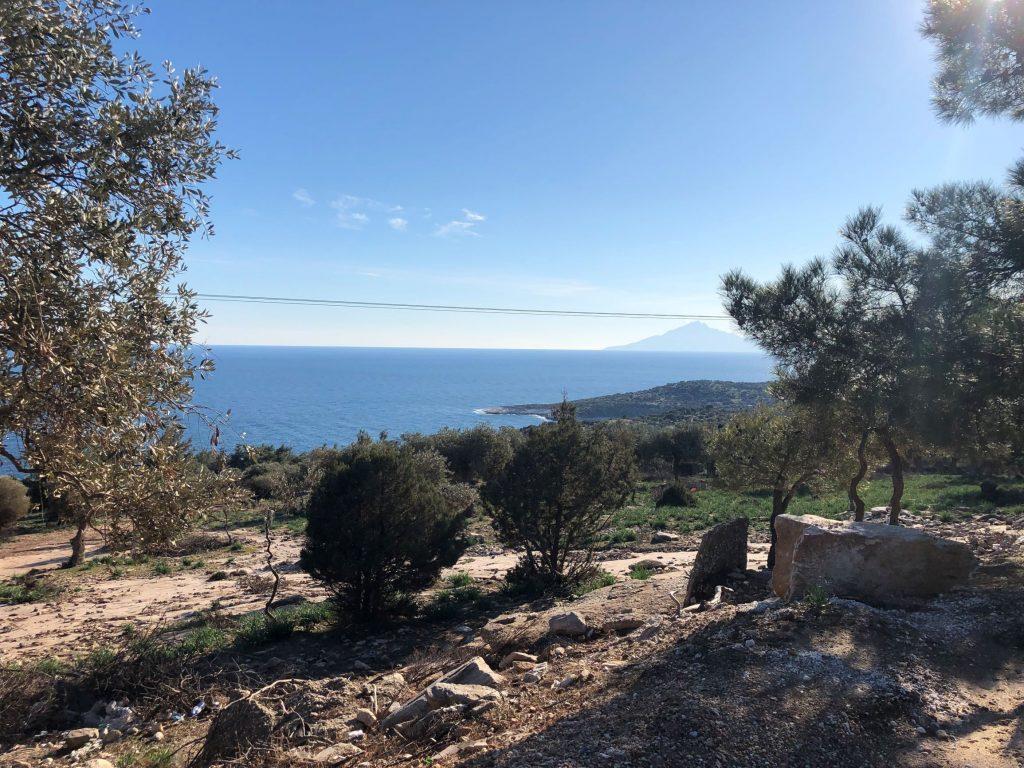 Road Giola lagoon Γκιόλα Тасос Thasos