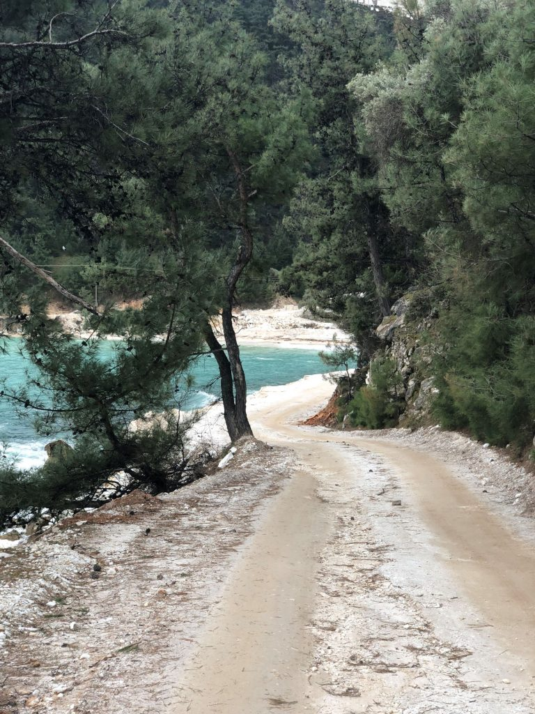 porto vathy beach road tasos Thasos tasos тасос